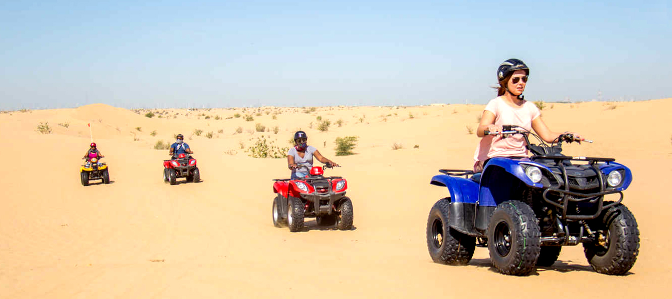 Hasil gambar untuk Quad biking the most preferred activity at Dubai Desert Safari
